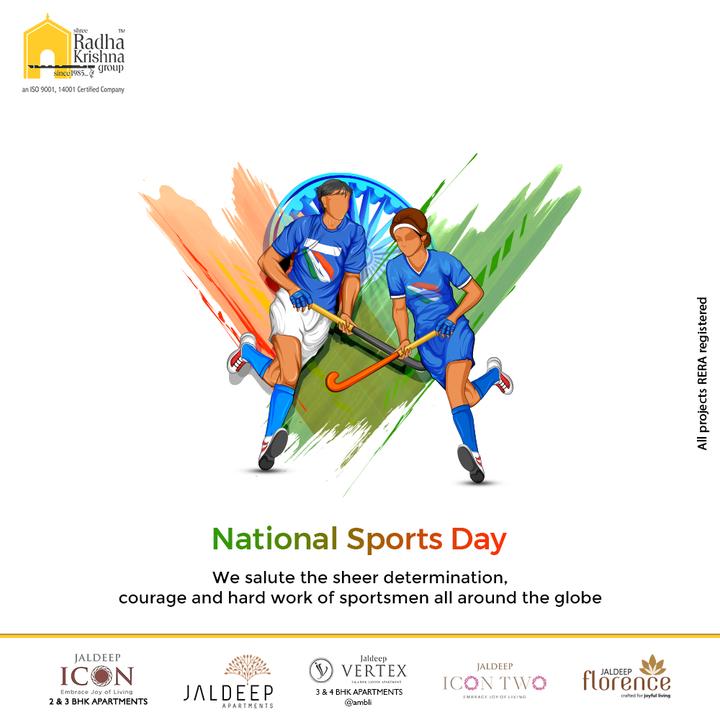 We salute the sheer determination, courage and hard work of sportsmen all around the globe.  #NationalSportsDay #NewIndiaFitIndia #NationalSportsDay2021 #MajorDhyanChand #BirthAnniversary #ShreeRadhaKrishnaGroup #RadhaKrishnaGroup #SRKG #Ahmedabad #RealEstate