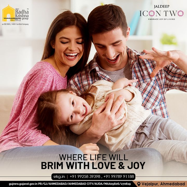 Welcome to Jaldeep Icon 2, a place where life brims with love and joy!  Jaldeep Icon 2, with its elegant construction, convenient amenities, & serene location of Vejalpur- Makarba, is the perfect family home!  #JaldeepIconTwo #IconTwo #LuxuryLiving #ShreeRadhaKrishnaGroup #RadhaKrishnaGroup #SRKG #Vejalpur #Makarba #Ahmedabad #RealEstate