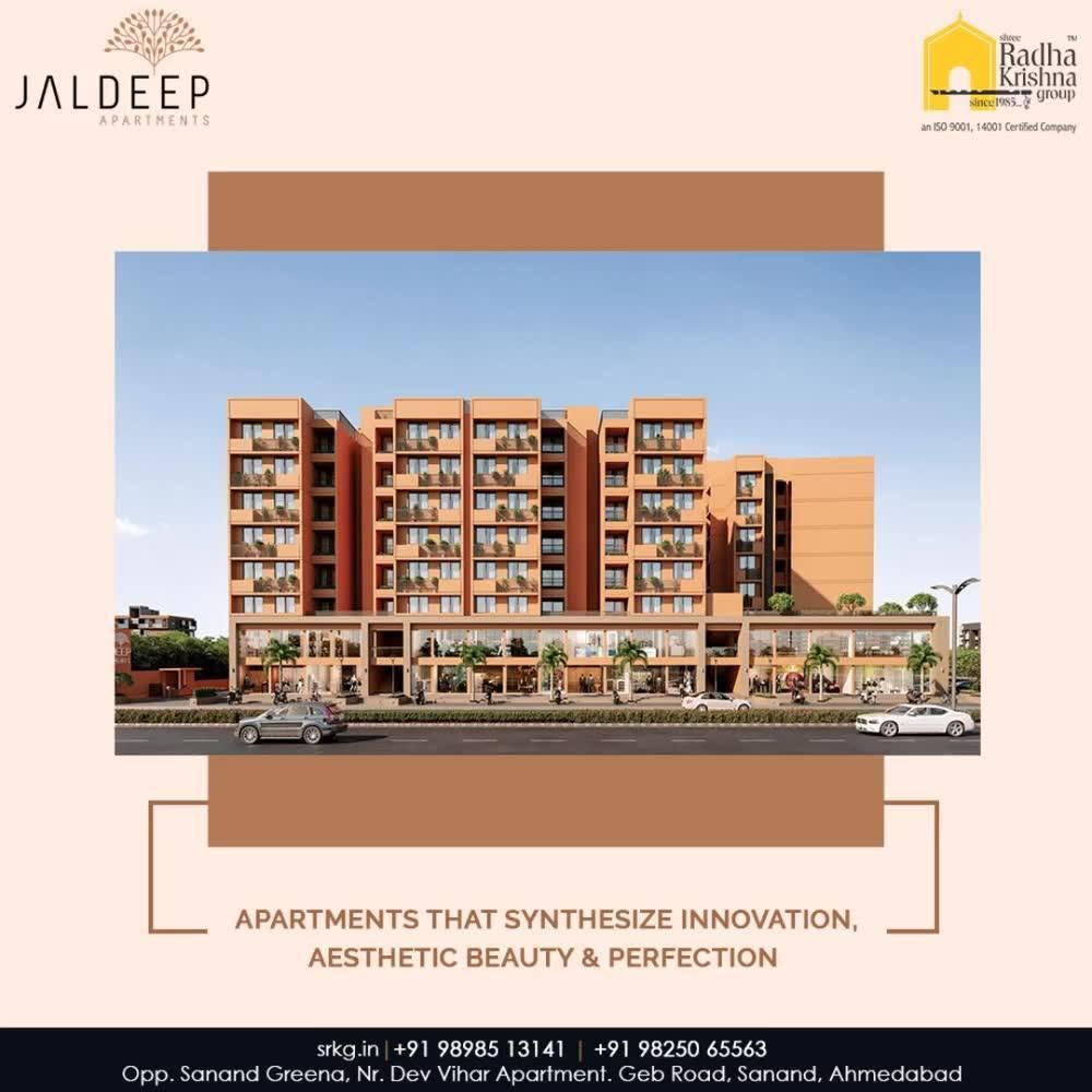 The luxurious abodes at #JaldeepApartment seamlessly synthesize innovation, aesthetic beauty & perfection.  #AnAssetToCelebrate #GoodInvestment #AestheticallyAppealingNAlluring #JaldeepApartments #Sanand #ShreeRadhaKrishnaGroup #Ahmedabad #RealEstate #LuxuryLiving