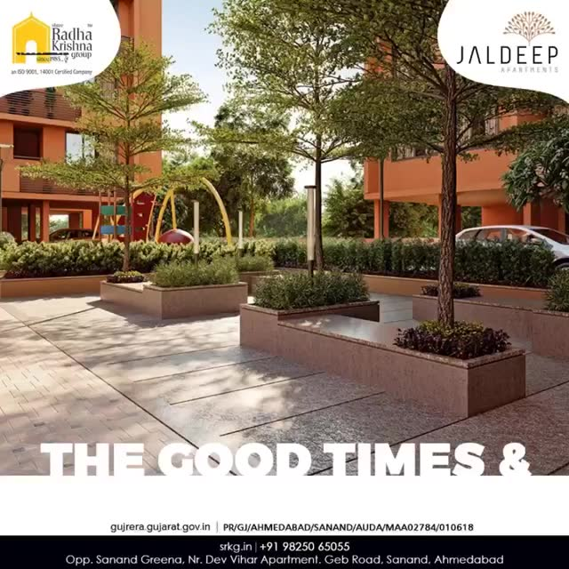 Live a refreshing life with your family! Claim your way to the good times & prosperous life at #JaldeepApartment.  #AlluringApartments #ExpanseOfElegance #LuxuryLiving #ShreeRadhaKrishnaGroup #Ahmedabad #RealEstate #SRKG