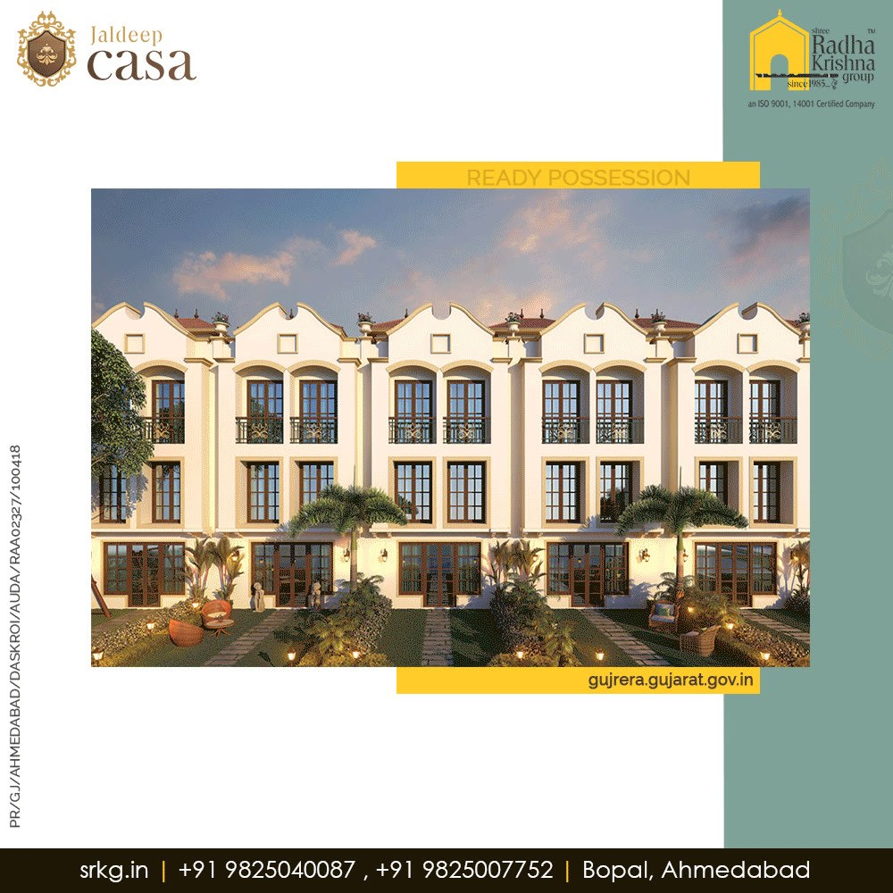#JaldeepCasa is an elite residential project that comprises of  34 limited bungalows which are meticulously built for you by the finest architects in order to offer a stylish and cosmopolitan lifestyle that you deserve to lead!   #WorldOfHappiness #WorkOfArtResdence #Bopal #ShreeRadhaKrishnaGroup #RealEstate #Ahmedabad