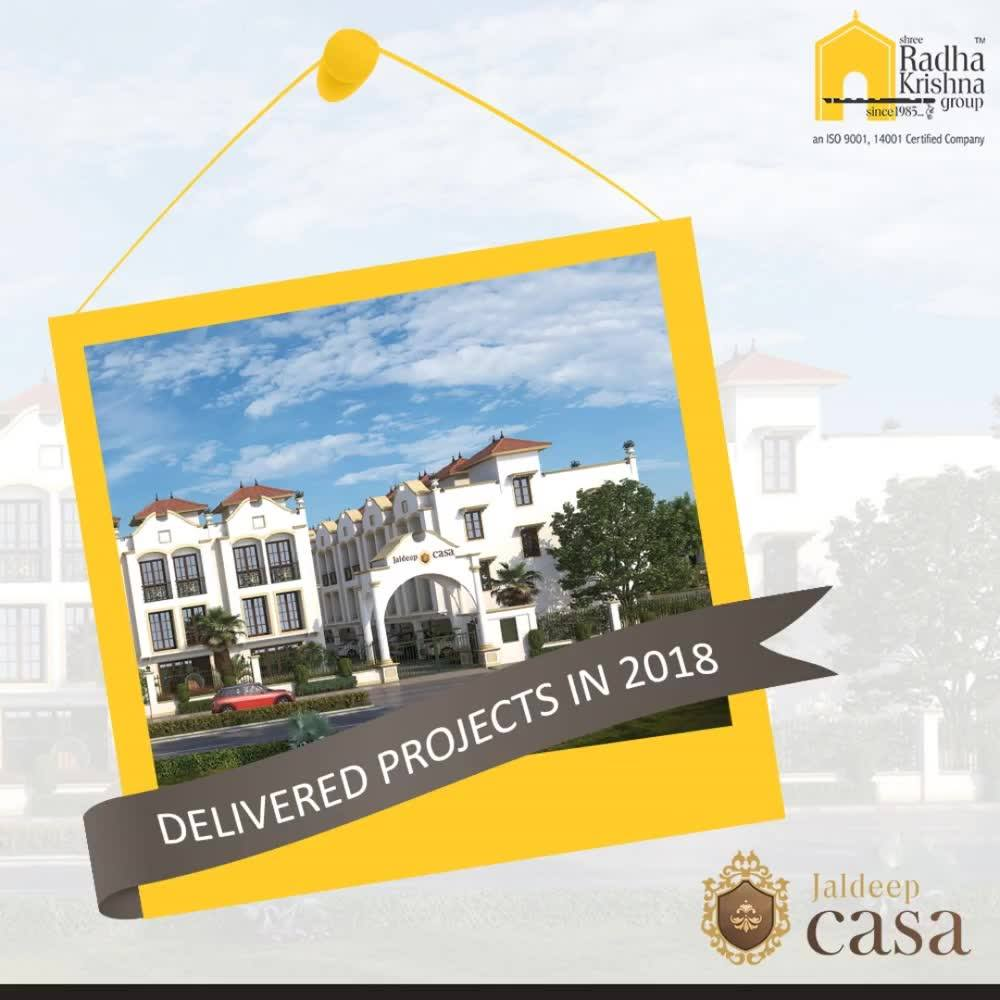 Once it's promised, it will be surely delivered!  Our proud projects #JaldeepCasa, #Jaldhara319, and #JaldeepVertex are absolutely & beautifully completed before 2018!   #GoodInvestment #YourHome #ShreeRadhaKrishnaGroup #Ahmedabad #RealEstate