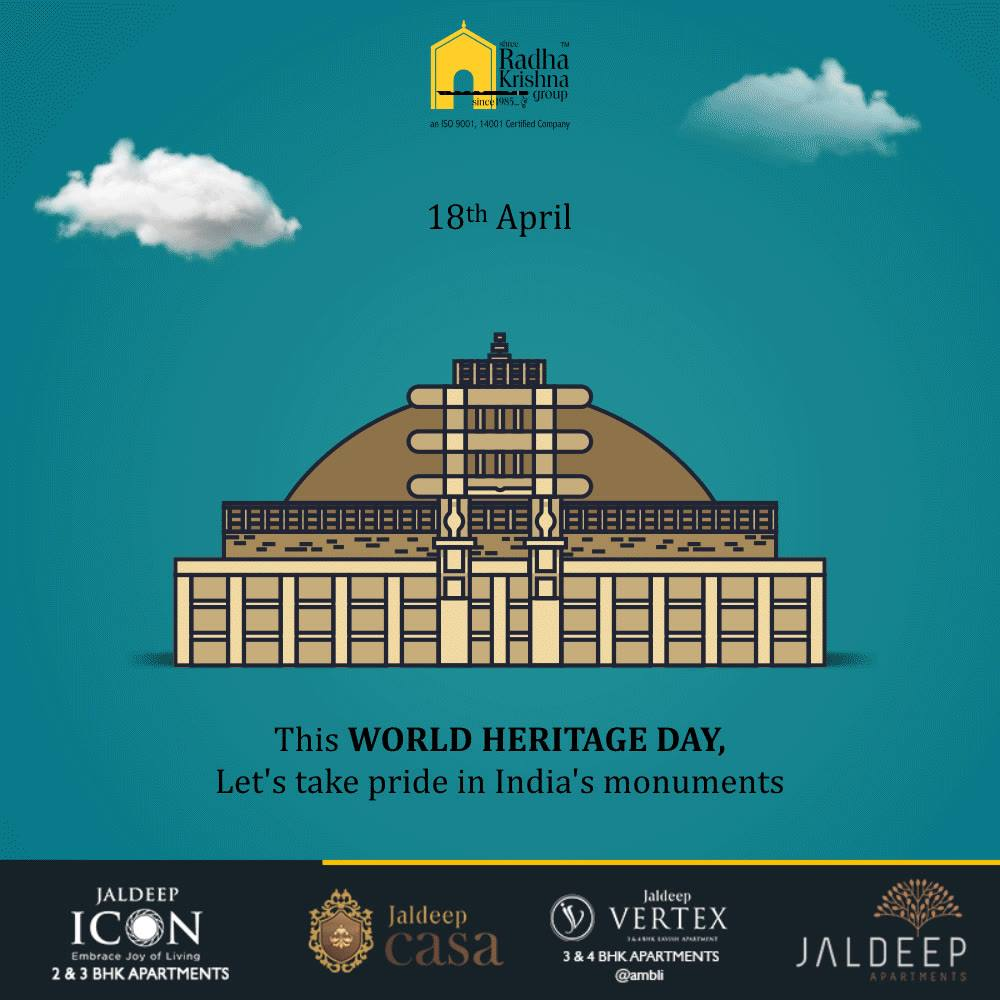 Let's take pride in India's monuments  #WorldHeritageDay #HeritageDay #ShreeRadhaKrishnaGroup #Ahmedabad #RealEstate