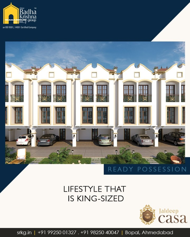 An auspicious beginning to a happy and prosperous life that is king sized  #JaldeepCasa #LuxuryLiving #ShreeRadhaKrishnaGroup #Ambli #Ahmedabad
