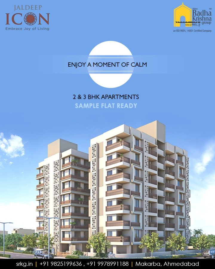 Experience the serene feeling of mindfulness and good health.  #SampleFlatReady #2and3BHKApartments #LuxuryLiving #ShreeRadhaKrishnaGroup #Makarba #Ahmedabad
