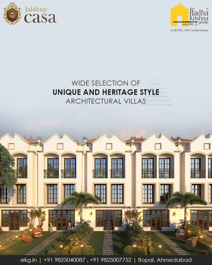 Wide selection of unique and heritage style architectural villas at #JaldeepCasa, #Bopal provides the perfect space to spend some quality and fun time with your family  #LuxuryLiving #Villas #ShreeRadhaKrishnaGroup #Ahmedabad
