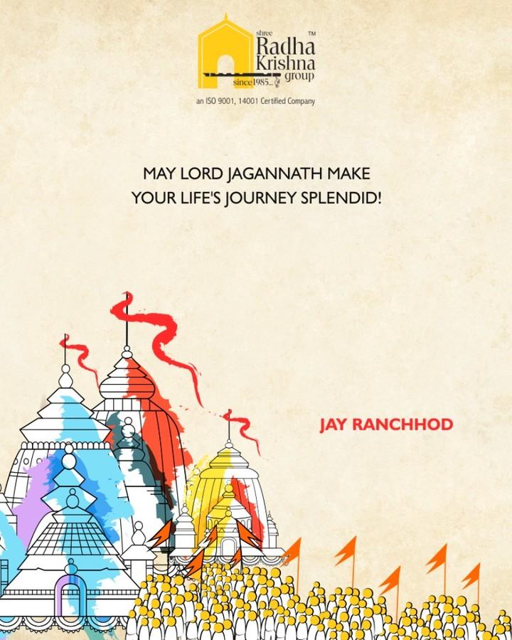 May lord Jagannath make your life's journey splendid!  #RathYatra2018 #Jagannath #RathYatra #JagannathTemple #LordJagannath #FestivalOfChariots #Spirituality #ShreeRadhaKrishnaGroup #Ahmedabad #RealEstate