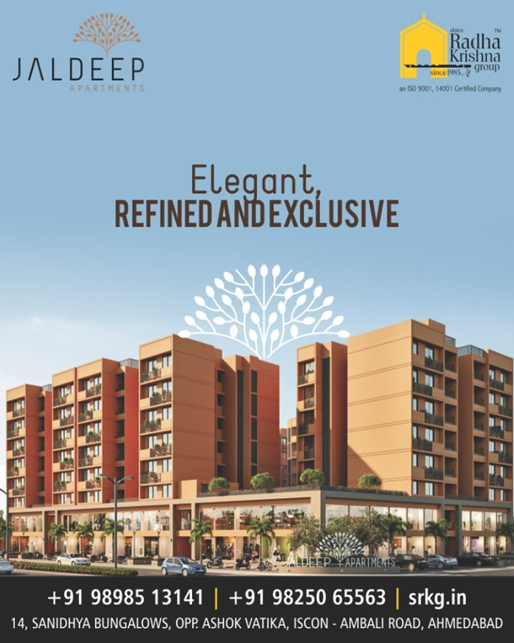 Warm and spacious 2 BHK #JaldeepApartments at #sanand are indeed perfect for elegant, refined and exclusive lifestyle  #ShreeRadhaKrishnaGroup #Ahmedabad #RealEstate #LuxuryLiving