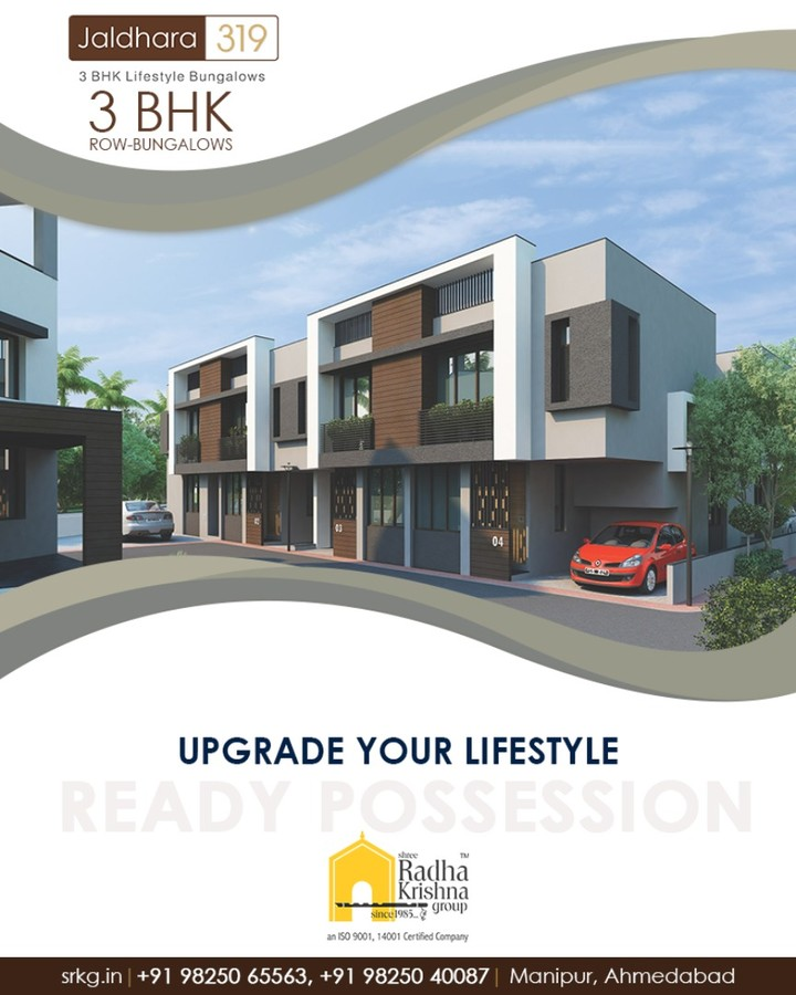 Comfort meets convenience at your beautiful new home!  #Jaldhara319 #3BHKRowBungalows #ReadyPossession #LuxuryLiving #ShreeRadhaKrishnaGroup #Manipur #Ahmedabad