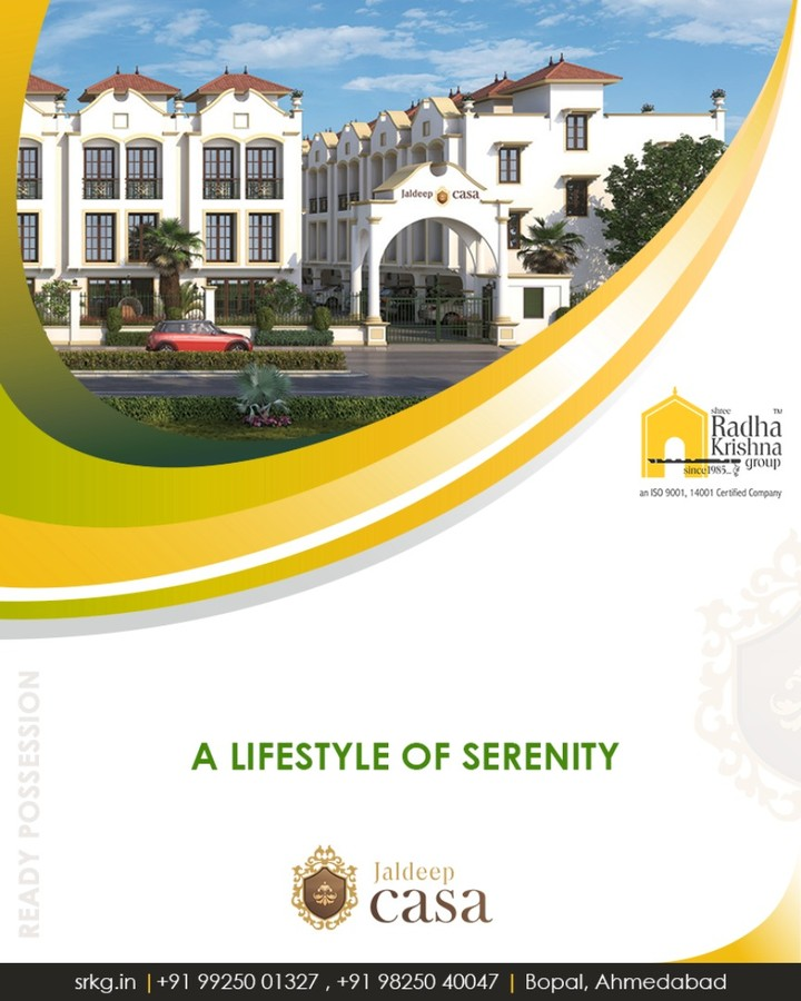 A home which offers you a luxurious life of convenience, strategic location & best amenities!  #JaldeepCasa #LuxuryLiving #Villas #ShreeRadhaKrishnaGroup #Bopal #Ahmedabad