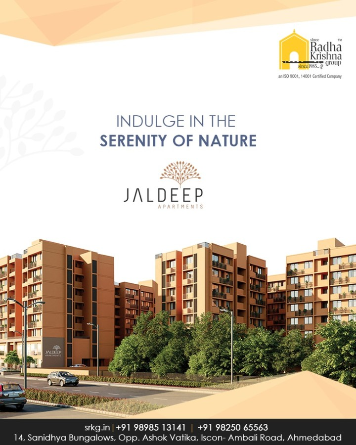 Escape the chaos of the city; find refuge in the lap of nature.  #JaldeepApartments #Sanand #ShreeRadhaKrishnaGroup #Ahmedabad #RealEstate #LuxuryLiving