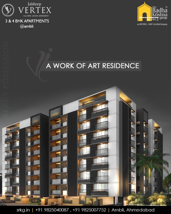 Radha Krishna Group,  JaldeepVertex, WorkOfArtResidence, Ambli, ShreeRadhaKrishnaGroup, Ahmedabad, RealEstate, LuxuryLiving