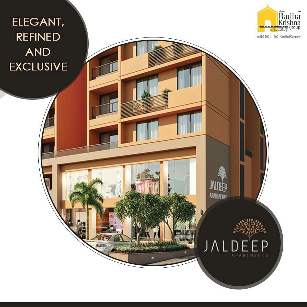 From the lush green surroundings to the breath-taking view to the intricate detailing of each home, these warm and spacious 2 BHK apartments are indeed the quintessence of the good life.  #JaldeepApartments #Sanand #ShreeRadhaKrishnaGroup #Ahmedabad #RealEstate #LuxuryLiving