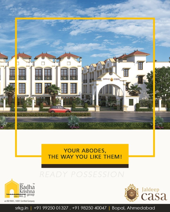 Weave the memories that you've always wanted to, in your new abode at #JaldeepCasa  #ShreeRadhaKrishnaGroup #Ahmedabad #RealEstate #LuxuryLiving