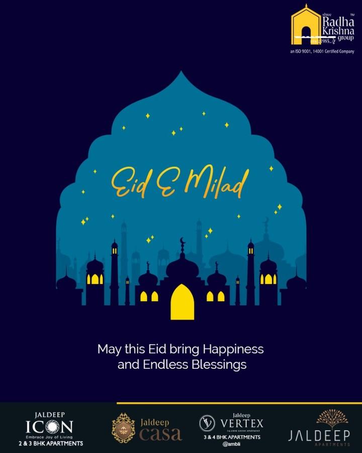 May this Eid bring happiness and endless blessings  #EideMilad #EidMubarak #ShreeRadhaKrishnaGroup #Ahmedabad #RealEstate #LuxuryLiving