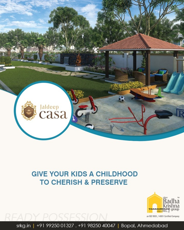 Let children be children! Running freely in the outdoor play area and battling at the indoor playing zone can be really refreshing for the kids. Whisk them away from the gadgets and loneliness. Give your kids a childhood to cherish & preserve at #JaldeepCasa.  #LetChildrenBeChildren #ChildrenPlayArea #ShreeRadhaKrishnaGroup #Abodes #LuxuryLiving #Gujarat #India #RealEstate #Ahmedabad