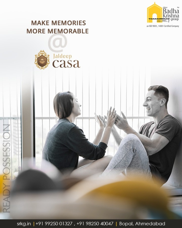 Explore the beauty of luxurious living and make memories more memorable #JaldeepCasa.  #WorkOfArtResidence #Bopal #ShreeRadhaKrishnaGroup #Ahmedabad #RealEstate #LuxuryLiving