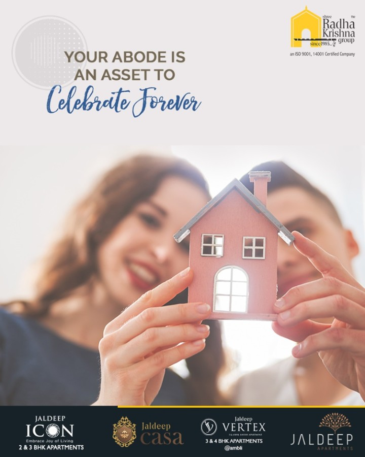 Your abode is an asset to celebrate forever!  Take a wise decision by making a good investment in the real estate segment that may give good-on-return value with Shree Radha Krishna Group.  #AnAssetToCelebrate #RealEstate #NewYearResolution #GoodInvestment #YourHome #ShreeRadhaKrishnaGroup #Ahmedabad #JaldeepApartment #JaldeepVertext #JaldeepCasa #JaldeepIcon