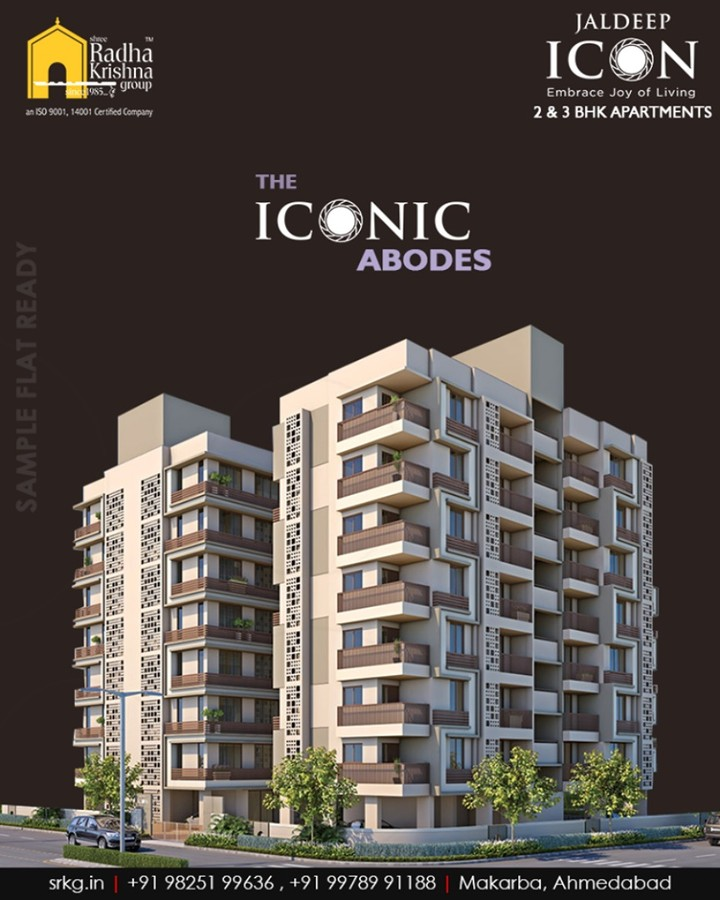 This year take a resolution to gift your family an iconic abode that will wrap you all around in the joy of comfort at #JaldeepIcon.  #RediscoverPeace #SampleFlatReady #2and3BHKApartments #IconicAbodes #LuxuryLiving #ShreeRadhaKrishnaGroup #Makarba #Ahmedabad #RealEstate #NewYearResolution #AnAssetToCelebrate