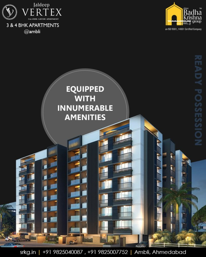 #JaldeepVertext brings to you the apartments that are beyond luxury as they incorporate a better lifestyle, healthy environment, better safety and upscale amenities for residents of every age.  #AnticipatedResidentialAddress #DreamsComeHome #AnAssetToCelebrate #GoodInvestment #YourHome #ShreeRadhaKrishnaGroup #Ahmedabad #RealEstate #Vertex