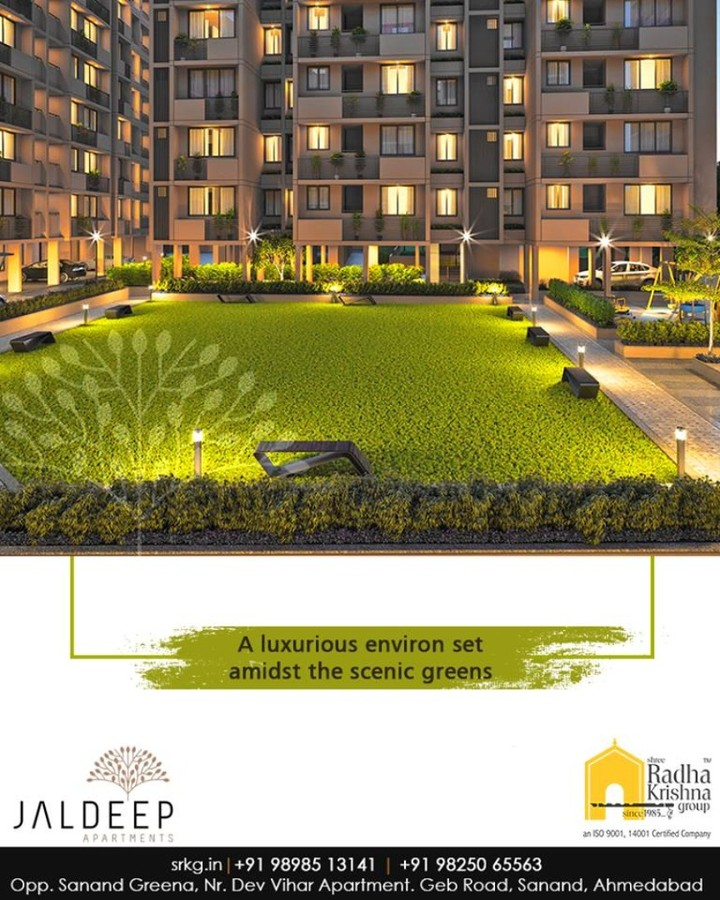 #JaldeepApartment comprises of the houses that are designed to speak volumes of the modern trends. Come home to living at a luxurious environment set amidst the scenic greens.  #AnAssetToCelebrate #GoodInvestment #AestheticallyAppealingNAlluring #JaldeepApartments #Sanand #ShreeRadhaKrishnaGroup #Ahmedabad #RealEstate #LuxuryLiving