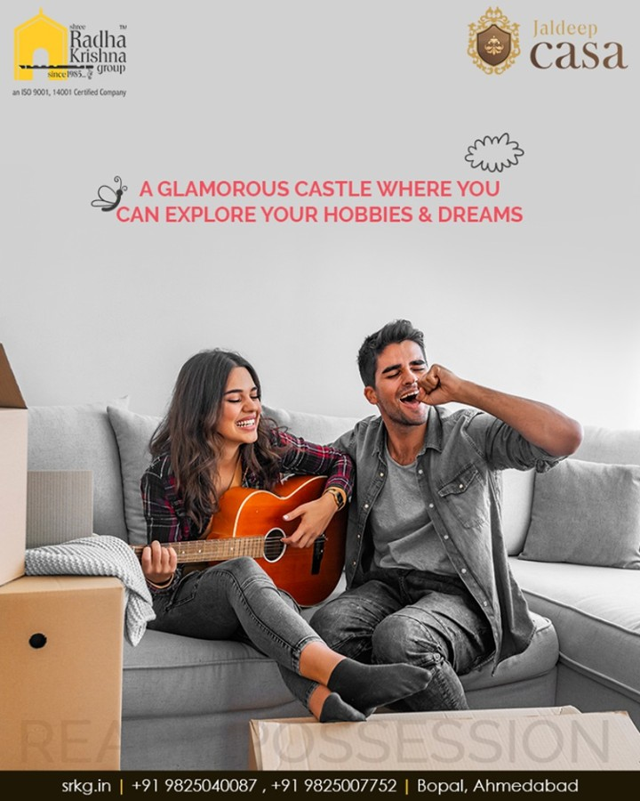 Designed as a lifestyle space, #JaldeepCasa is a residential project which boasts of the glamorous castles where its residents can endlessly explore their hobbies & dreams.  #WorldOfHappiness #WorkOfArtResidence #Bopal #ShreeRadhaKrishnaGroup #Ahmedabad #RealEstate #LuxuryLiving