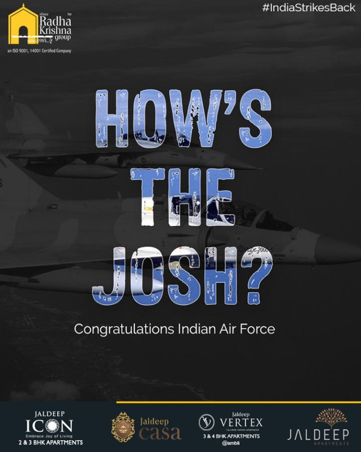 Radha Krishna Group,  IndiaStrikesBack, AirSurgicalStrikes, IndianAirForce, SurgicalStrike2, ShreeRadhaKrishnaGroup, Ahmedabad, RealEstate