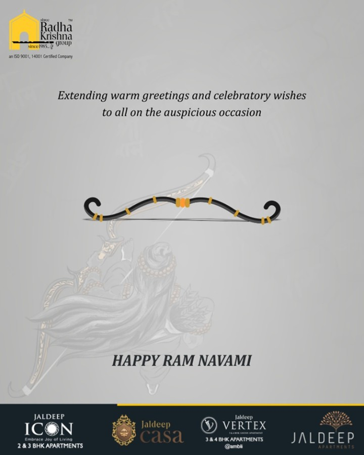 May the divine lord grants peace & prosperity to the entire mankind on this occasion!  #RamNavami #रामनवमी #JaiShriRam #RamNavami2019 #HappyRamNavami #IndianFestival #ShreeRadhaKrishnaGroup #Ahmedabad #RealEstate