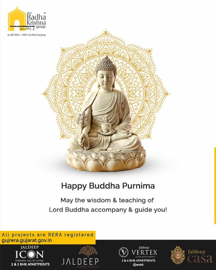 May the wisdom & teaching of Lord Buddha accompany & guide you!  #BuddhaPurnima #BuddhaPurnima2019 #LordBuddha #ShreeRadhaKrishnaGroup #Ahmedabad #RealEstate