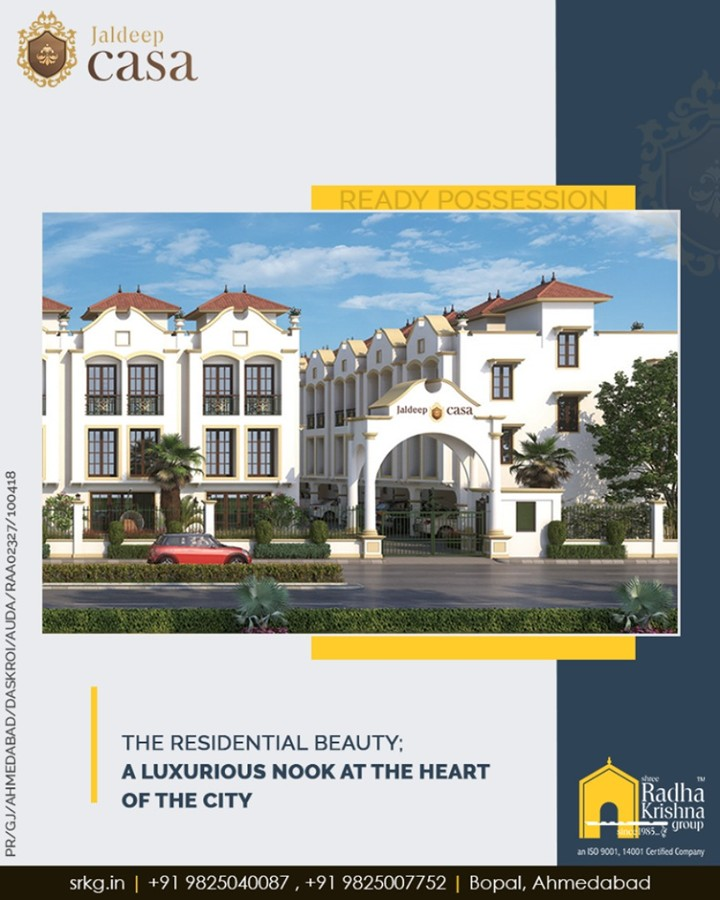 The residential beauty; #JaldeepCasa by Shree Radha Krishna Group brings to you a splash of regal grandiose and a luxurious nook at the heart of the city.  #Bopal #Amenities #LuxuryLiving #ShreeRadhaKrishnaGroup #Ahmedabad #RealEstate #WorldOfHappiness