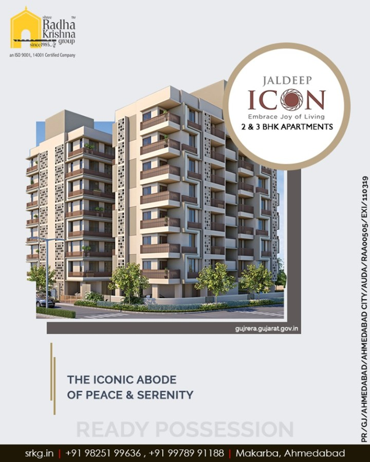 Let your lifestyle be greeted with the modern day facilities that are designed as per your convenience at the iconic abode of peace & serenity.  #SampleFlatReady #Amenities #LuxuryLiving #ShreeRadhaKrishnaGroup #Ahmedabad #RealEstate #JaldeepIcon