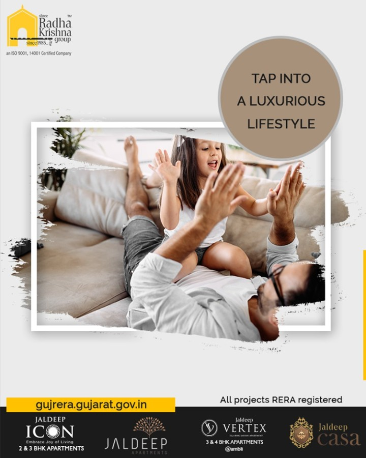 Home is like a celestial destination for your dreams.  Tap into a luxurious lifestyle and make your wishes of living the lavish life happen with Shree Radha Krishna Group  #Amenities #LuxuryLiving #ShreeRadhaKrishnaGroup #Ahmedabad #RealEstate #SRKG