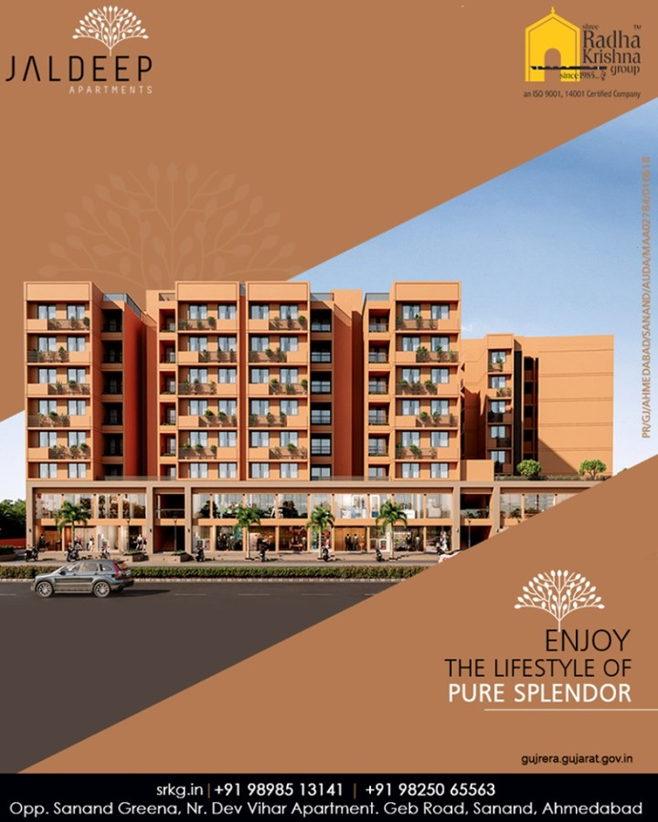 Greet hands with the quality living in every sense and enjoy the lifestyle of pure splendor at the budget-friendly residential project; #JaldeepApartment.  #Amenities #LuxuryLiving #ShreeRadhaKrishnaGroup #Ahmedabad #RealEstate #SRKG