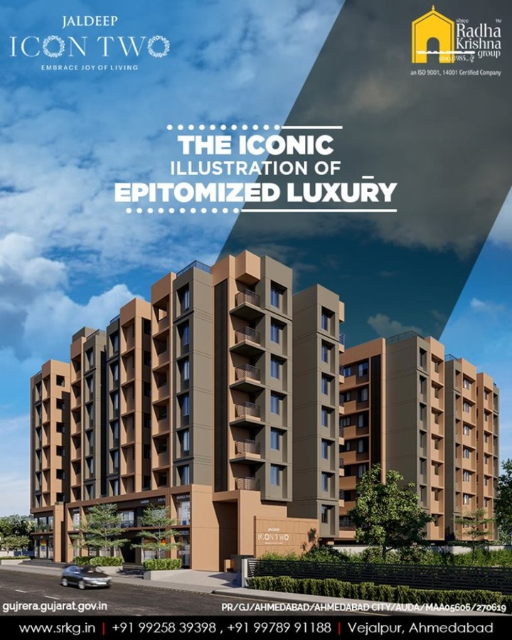 After the grand success of #JaldeepIcon, Shree Radha Krishna Group is now coming up with the latest residential project; #JaldeepIcon2 which will be an iconic illustration of epitomized luxury!  #ComingSoon #ShreeRadhaKrishnaGroup #Ahmedabad #RealEstate #SRKG