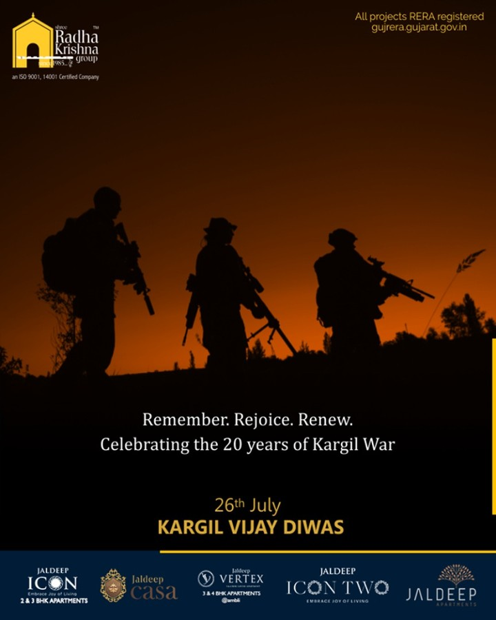 Salute to the indomitable courage of our Soldiers on #KargilVijayDiwas  #KargilVijayDiwas #JaiHind #Salute #20YearsOfKargilVijay #IndianArmy #OperationVijay #ShreeRadhaKrishnaGroup #Ahmedabad #RealEstate #SRKG
