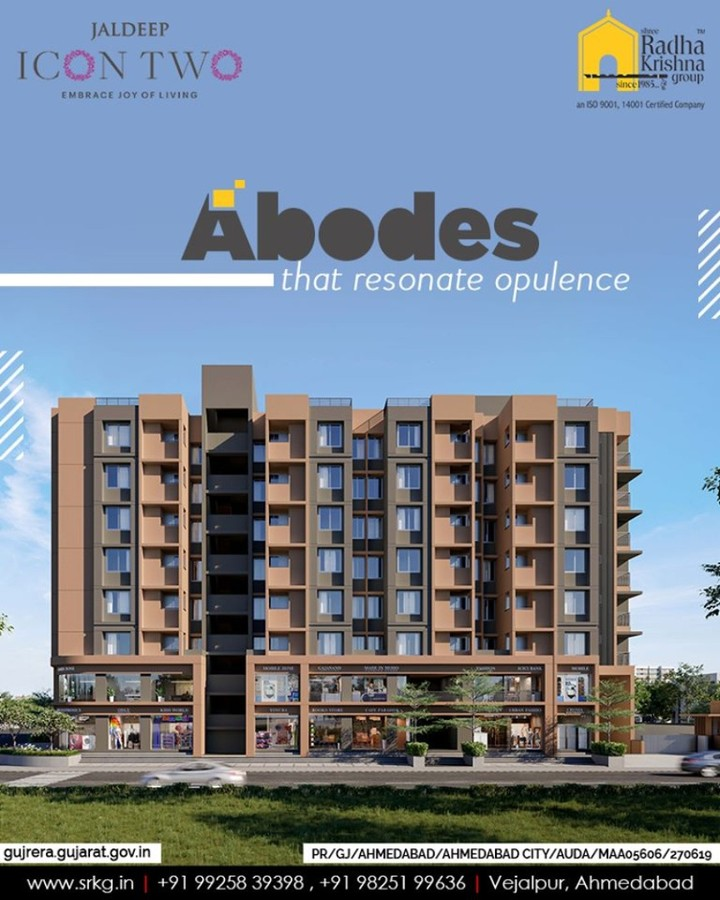 The signature abodes at #JaldeepIcon2 will resonate opulence and reflect finesse.  #Icon2 #ShreeRadhaKrishnaGroup #Ahmedabad #RealEstate #SRKG