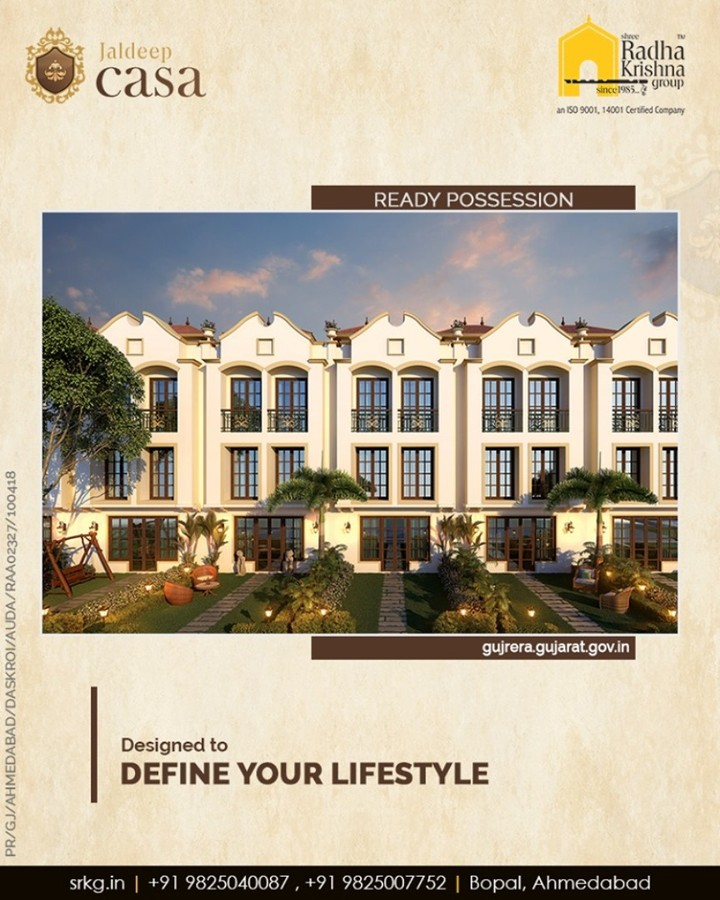 Designed to define your lifestyle, #JaldeepCasa is the manifestation of contemporary lifestyle amalgamated with the rich landscape and ample open space.  #Amenities #LuxuryLiving #ShreeRadhaKrishnaGroup #Ahmedabad #RealEstate #SRKG