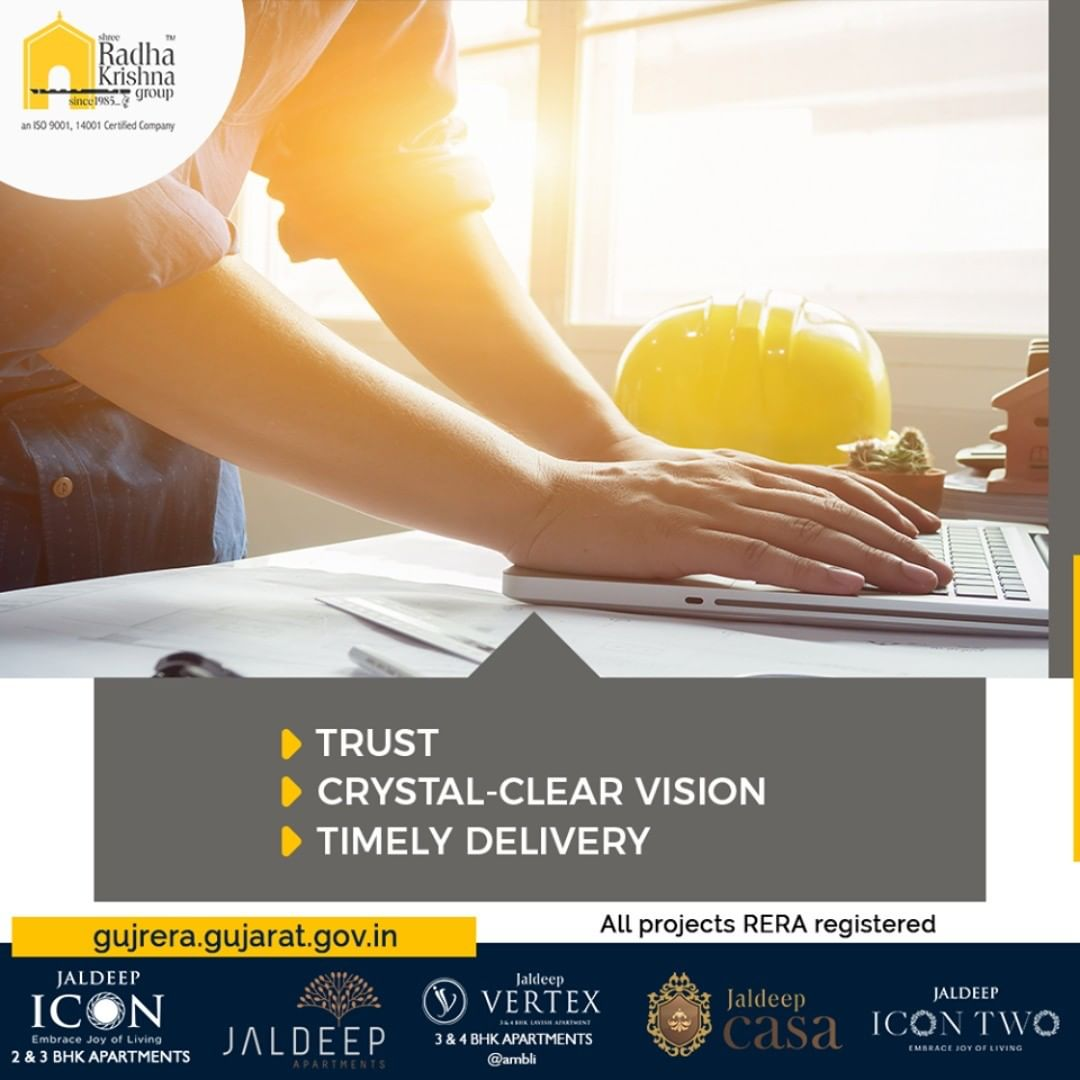 SRKG is the epitome of trust, crystal-clear vision, and timely delivery!  #ShreeRadhaKrishnaGroup #Ahmedabad #RealEstate #SRKG
