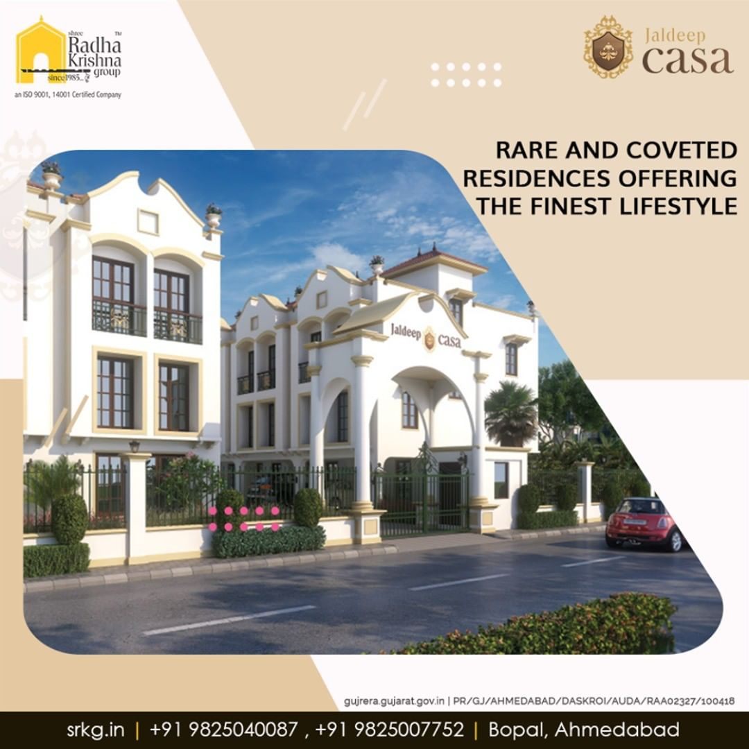 Looking to live the lifestyle pampered with an array of world-class amenities?  The rare and coveted residences at #JaldeepCasa is offering the finest lifestyle to its residents.  #CasaLife #Amenities #LuxuryLiving #ShreeRadhaKrishnaGroup #Ahmedabad #RealEstate #SRKG