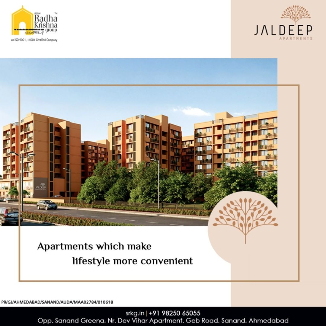 Live the happy and well-planned life at an apartment that shall make your lifestyle more convenient living.  #JaldeepApartment #AlluringApartments #ExpanseOfElegance #LuxuryLiving #ShreeRadhaKrishnaGroup #Ahmedabad #RealEstate #SRKG