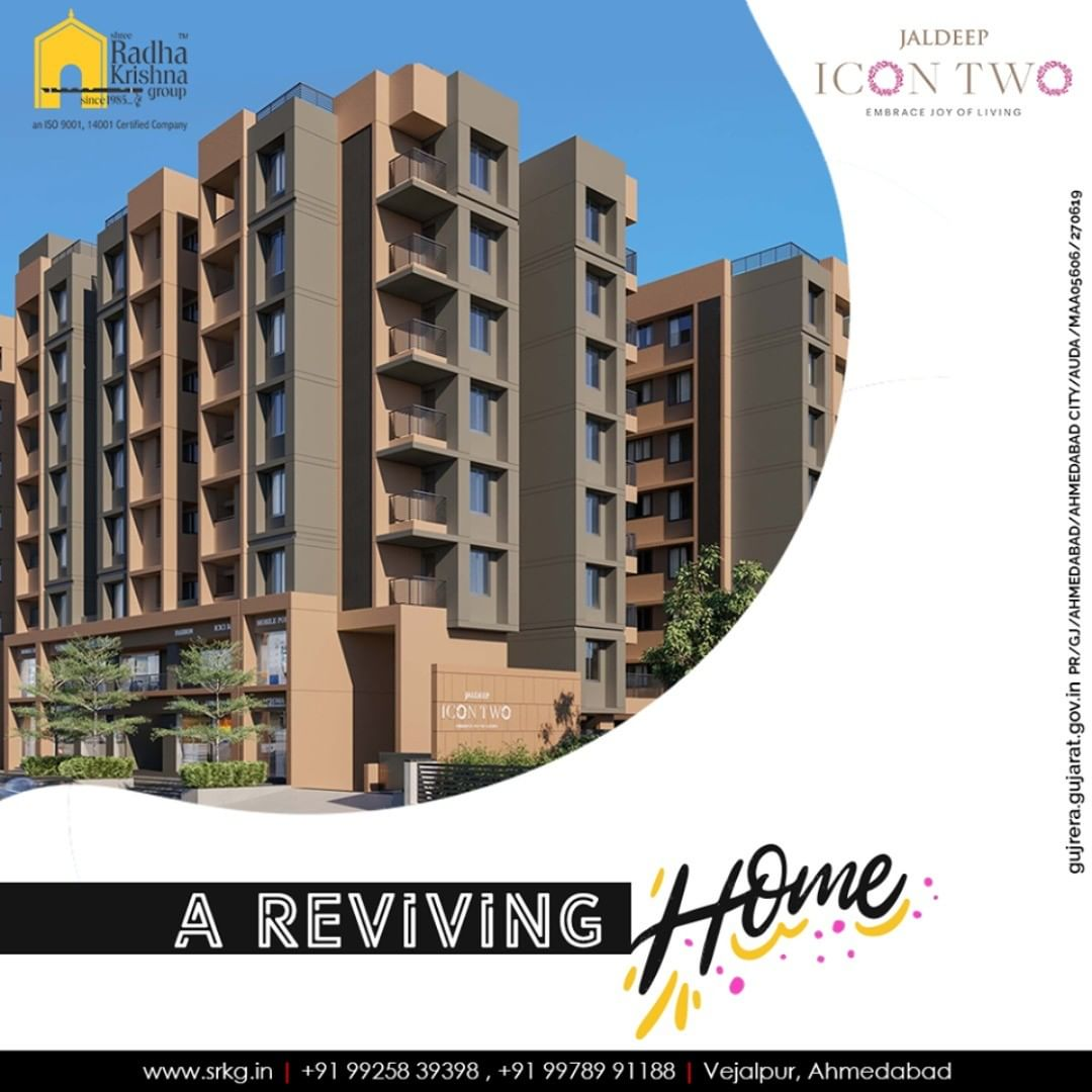 Your search for a reviving home ends here!  #JaldeepIcon2 #Amenities #LuxuryLiving #ShreeRadhaKrishnaGroup #Ahmedabad #RealEstate #SRKG #IconicApartments #IconicLiving