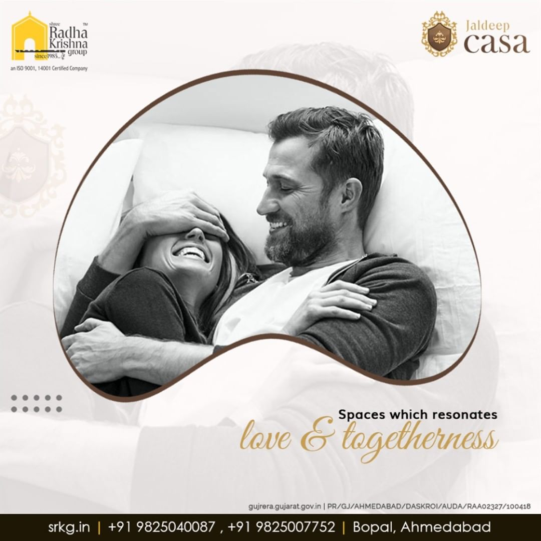 """Spaces which resonates love & togetherness""  #JaldeepCasa #WorkOfHappiness #Bopal #Amenities #LuxuryLiving #ShreeRadhaKrishnaGroup #Ahmedabad #RealEstate"