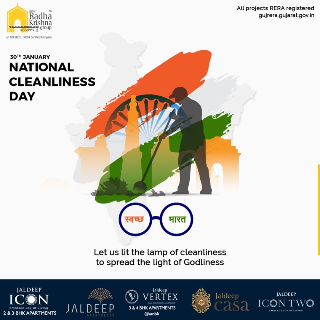 Radha Krishna Group,  NationalCleanlinessDay, CleanIndia, SRKG, ShreeRadhaKrishnaGroup, Ahmedabad, RealEstate