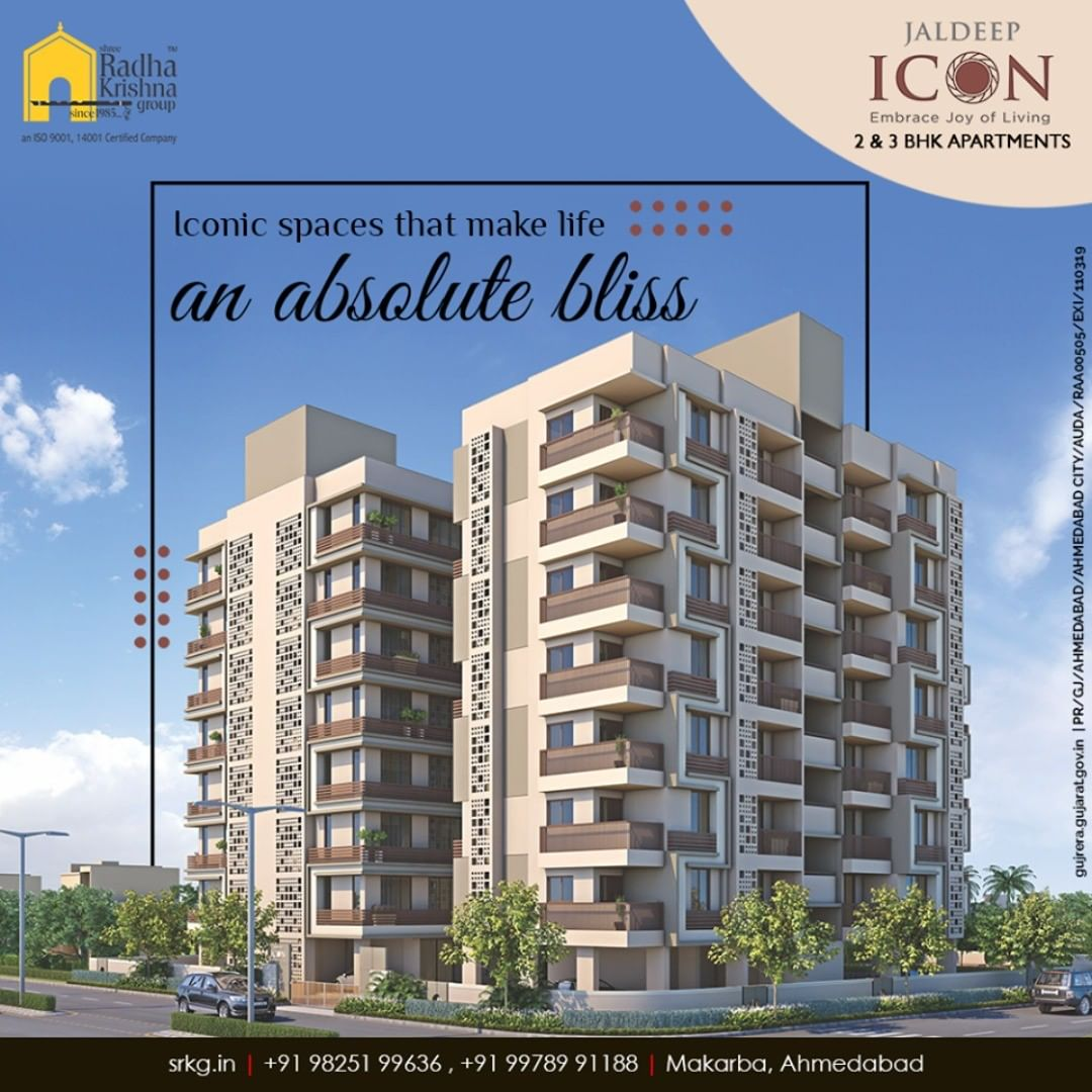 Discover the beauty of life making it an absolute bliss at #JaldeepIcon.  #Icon2 #LuxuryLiving #ShreeRadhaKrishnaGroup #Ahmedabad #RealEstate #SRKG