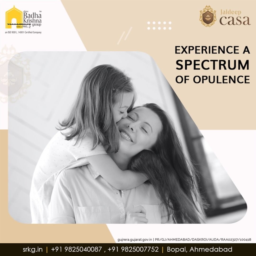 Live the one-of-a-kind life and experience a spectrum of opulence at #JaldeepCasa.  #WorkOfHappiness #Bopal #Amenities #LuxuryLiving #ShreeRadhaKrishnaGroup #Ahmedabad #RealEstate