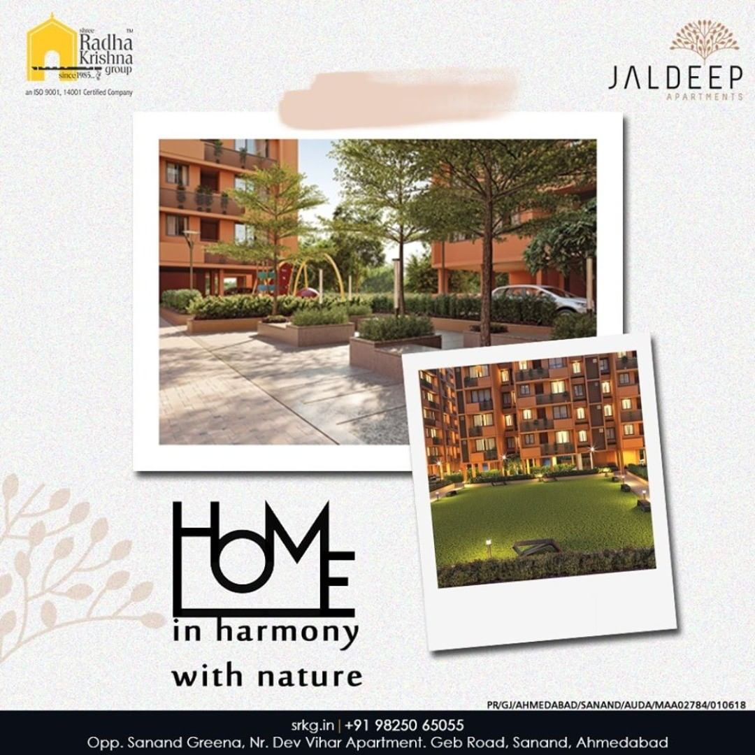 Reap the perks and bounties of staying closer to nature at #JaldeepApartment.  #AlluringApartments #ExpanseOfElegance #LuxuryLiving #ShreeRadhaKrishnaGroup #Ahmedabad #RealEstate #SRKG