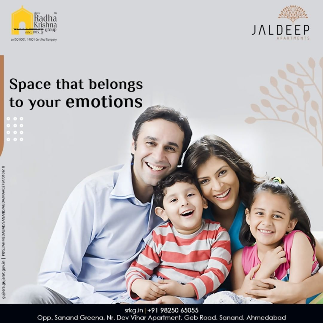 When it comes to lifestyle, the comfort seekers like you choose only the best!  Grab the opportunity to dwell in a space that belongs to your emotions.  #JaldeepApartment #AlluringApartments #ExpanseOfElegance #LuxuryLiving #ShreeRadhaKrishnaGroup #Ahmedabad #RealEstate #SRKG
