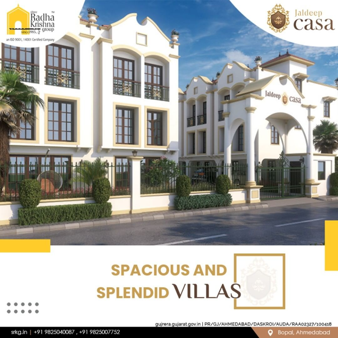 Discover the joys of living in a spacious and splendid villa within the city.  #JaldeepCasa #WorkOfHappiness #Bopal #Amenities #LuxuryLiving #ShreeRadhaKrishnaGroup #Ahmedabad #RealEstate