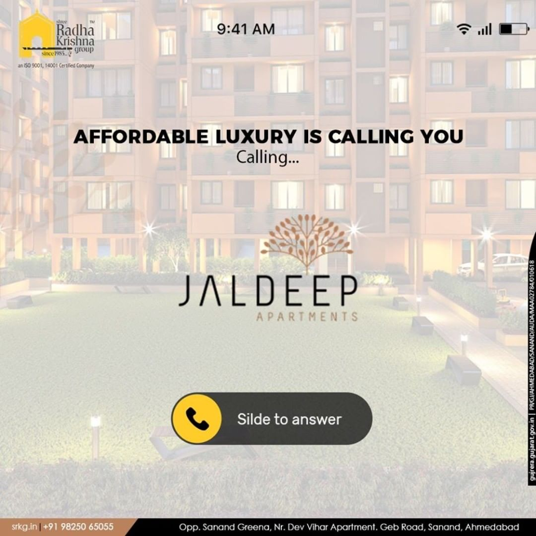 The ideally designed residential project, #JaldeepApartment offers modern spacious apartments that justify the concept of affordable luxury.  Slide to answer and give your loved ones a lifestyle that they deserve.  #TrendingPost #TrendingFormat #AlluringApartments #ExpanseOfElegance #LuxuryLiving #ShreeRadhaKrishnaGroup #Ahmedabad #RealEstate #SRKG