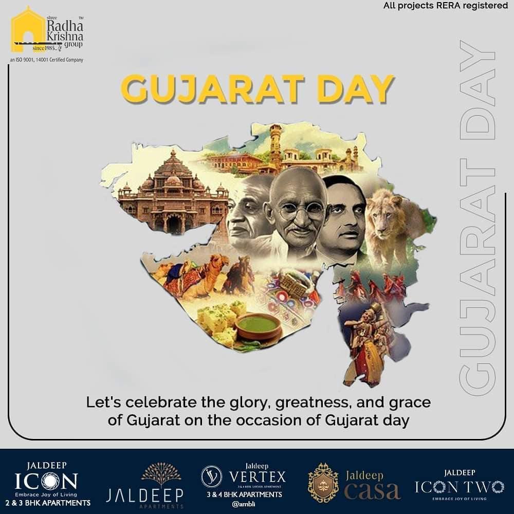 Radha Krishna Group,  HappyGujaratDay, GujaratDay, GujaratFoundationDay, GujaratDay2020, SRKG, ShreeRadhaKrishnaGroup, Ahmedabad, RealEstate